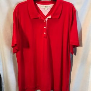 Tommy Hilfiger red short sleeved polo shirt 3X